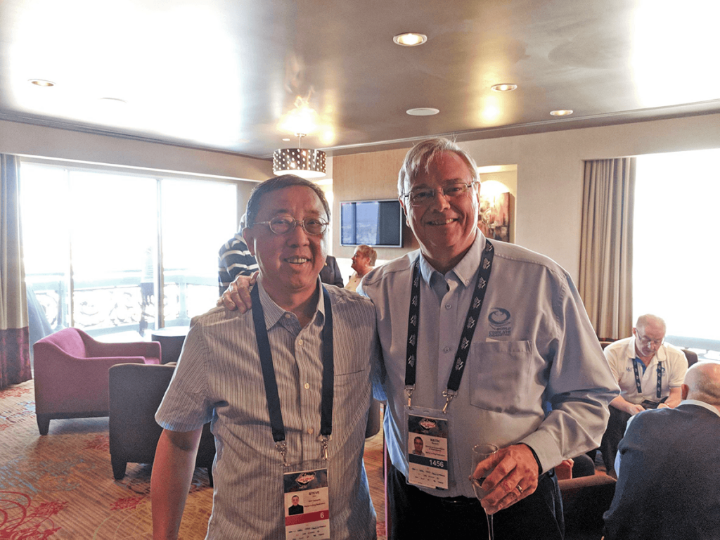 Keith Wendorf and CTCF Vice President Steve Koo