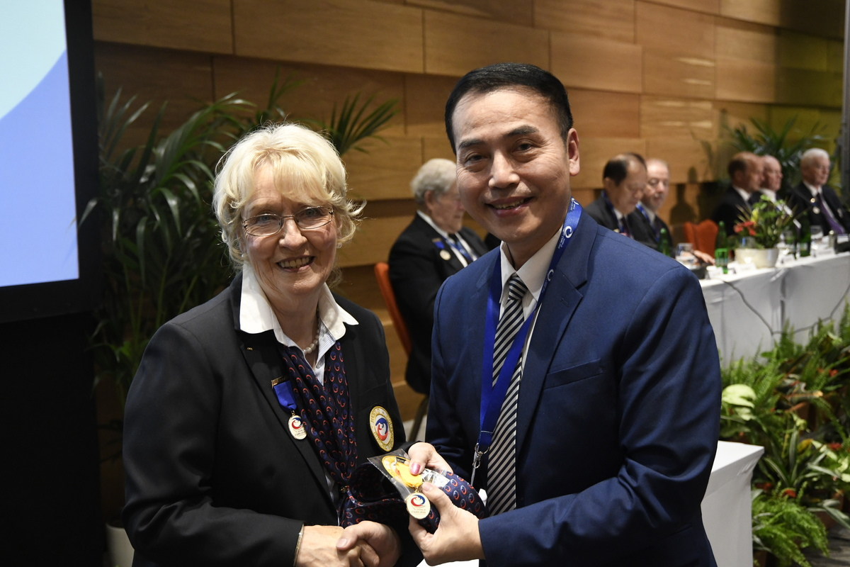 AGA2018 - WCF President Kate Caithness and CTCF President Eddy Wu © WCF / Peter Harsanyi